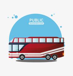 public transport vehicle travel vector image vector image
