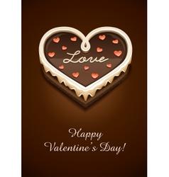 sweet chocolate cake vector image vector image