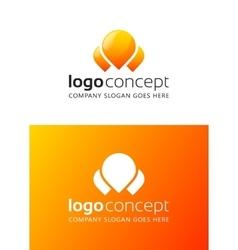 Creative abstract logo vector image vector image