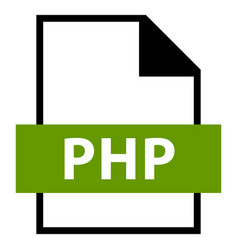 file name extension php type vector image vector image
