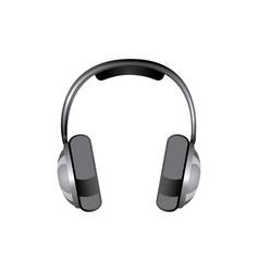 gray headphones icon stock vector image