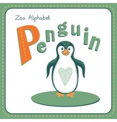 Letter P - Penguin vector image vector image