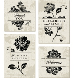 Modern Floral Template vector image vector image