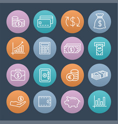 money colorful icons vector image