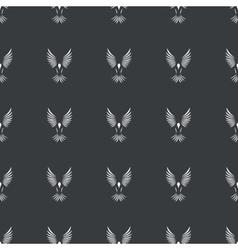 Straight black flying bird pattern vector image