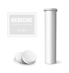 Template Medicine Box vector image
