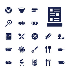 22 cooking icons vector