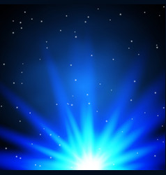 abstract blue glow light effect vector image