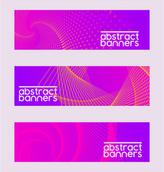 abstract collection set of banners brochures vector image