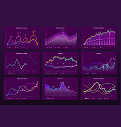 abstract data charts statistic graphs finance vector image