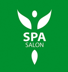 Abstract logo girl with wings for the spa salon vector image