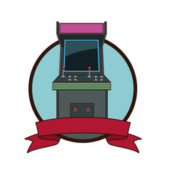 Arcade videogame retro machine vector