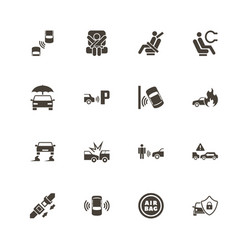 auto safety - flat icons vector image