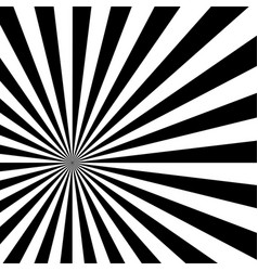 Black and white sun sunburst pattern vector