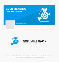 blue business logo template for data diagram vector image