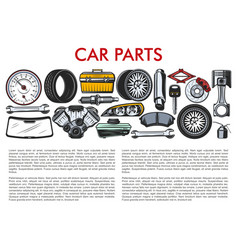 car parts and automobile service mechanic tools vector image