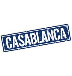 Casablanca blue square stamp vector