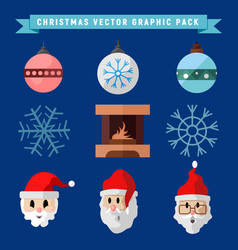 Christmas graphic package symbols set vector