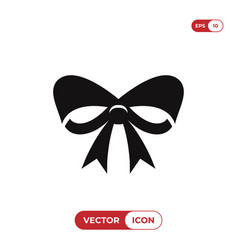christmas ribbon icon vector image