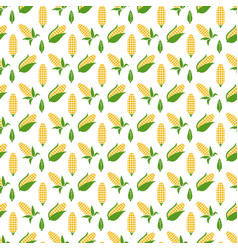 Colorful corn seamless pattern corn vector