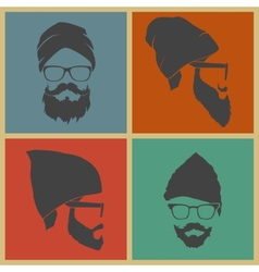 Colorful Icons man in a headdress vector
