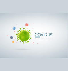 Coronavirus outbreak covid-19 design with falling vector