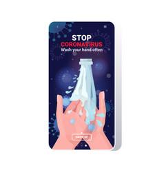 coronavirus protection wash your hands often vector image