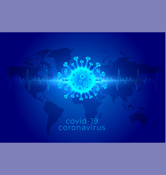 Covid19 coronavirus global pandemic background in vector
