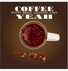 Creative design for coffee vector