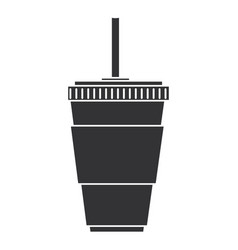cup soda drink isolated icon vector image