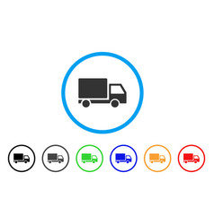 delivery lorry rounded icon vector image vector image