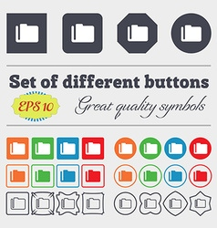 Document folder icon sign Big set of colorful vector