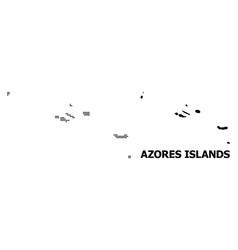 Dot pattern map azores islands vector