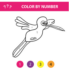 educational children game color picture by vector image