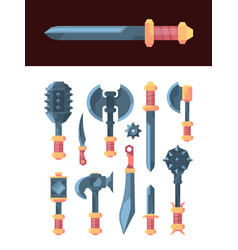 fairytale weapons medieval perky knives steel vector image