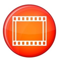 Film with frames movie icon flat style vector image