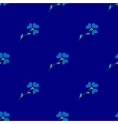 Flower blue seamless pattern vector