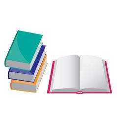 four books vector image