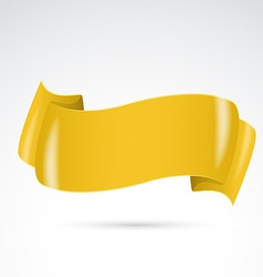 Golden badge sign ribbon template vector