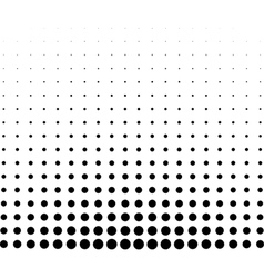 graphical black and white gradient in halftone vector image