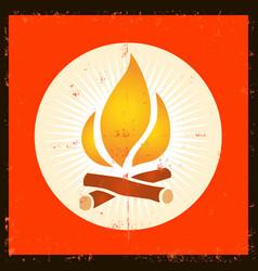Grunge fire symbol vector