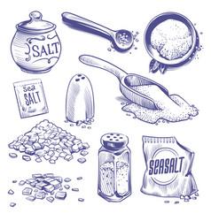 hand drawn sea salt salting crystals himalayan vector image