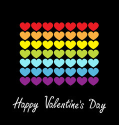 happy valentines day rainbow flag line icon vector image