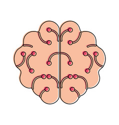 Human brain artificial intelligence related icon vector