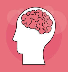 Human head brain mind intelligence vector