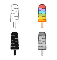ice lolly icon in cartoon style isolated on white vector image