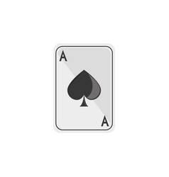 isolated casino card flat design vector image