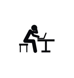 isolated programming icon student element vector image