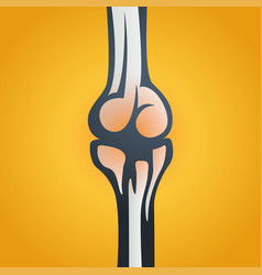 Joint pain icon vector
