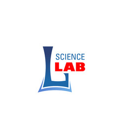l letter icon for science lab laboratory vector image
